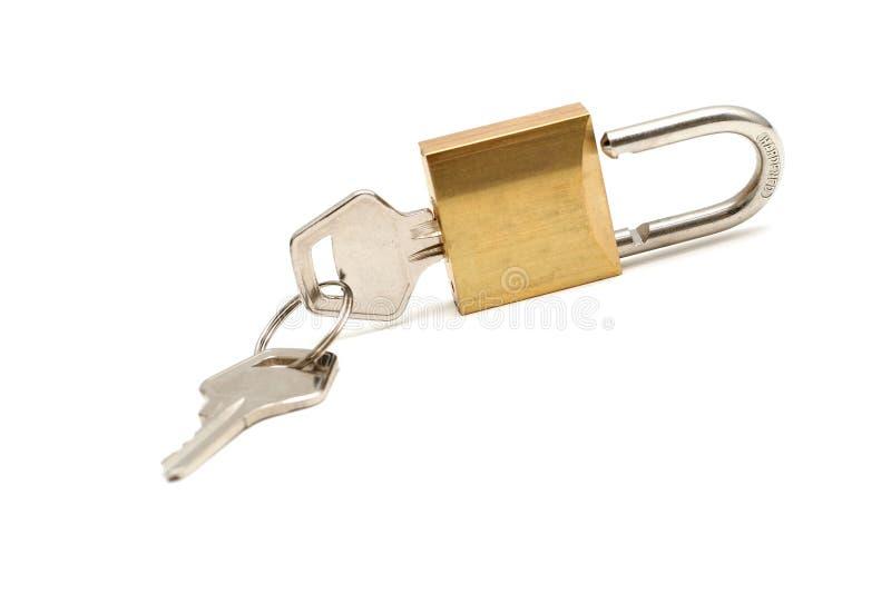 Slot en sleutels stock foto's