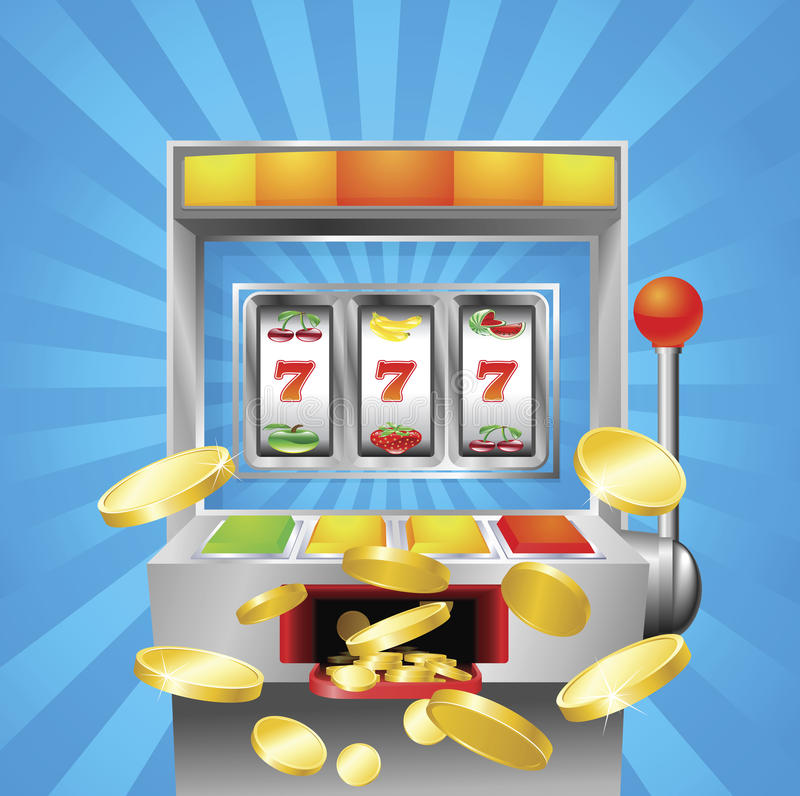 Download Slot fruit machine winning stock vector. Image of machine - 20041980