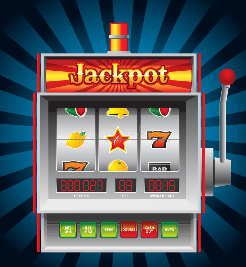 Slot Machine. Detailed illustration of a nice slot machine vector illustration