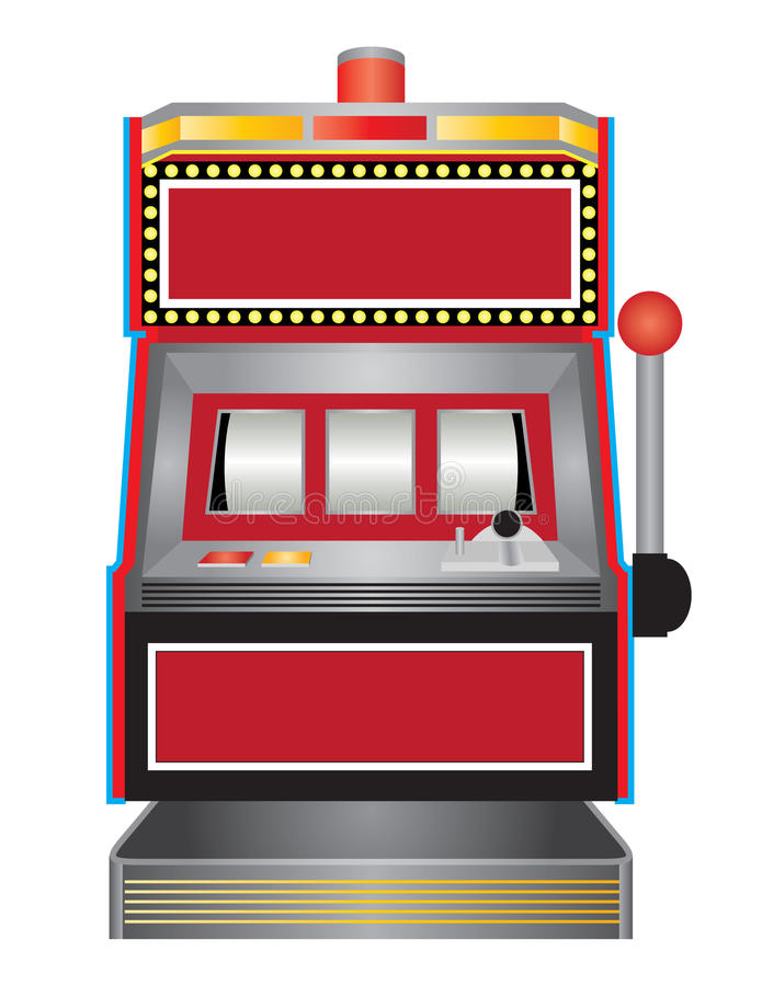 Slot Machine. Create your own slot machine with this original illustration royalty free illustration