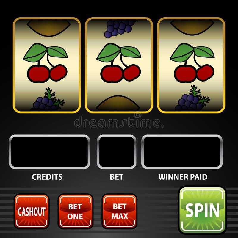 Slot Machine. An image of a slot machine stock illustration