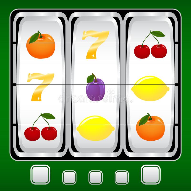 Slot machine. Vector illustration of a slot machine stock illustration