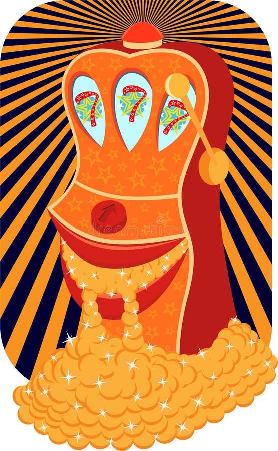 Slot machine allegre royalty illustrazione gratis