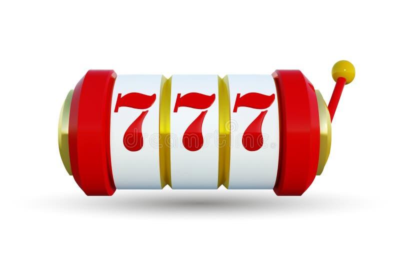 Slot machine com o jackpot afortunado dos sevens Ilustração do vetor O slot machine dourado ganha o jackpot Ilustração do vetor ilustração royalty free