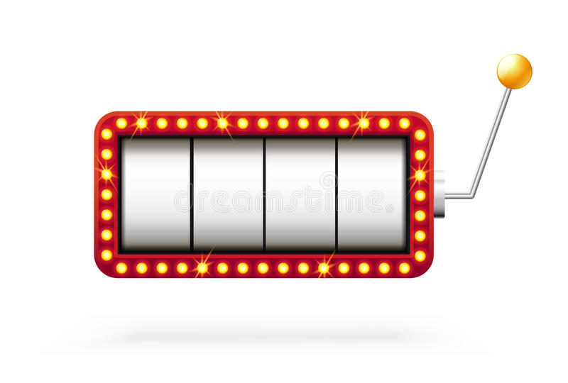 Slot machine 3d no branco imagem de stock royalty free