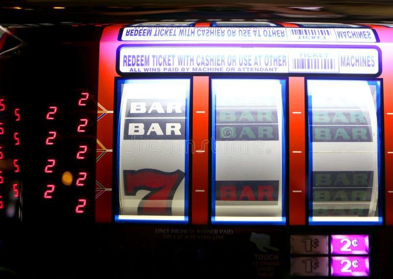 Slot machine de Vegas imagens de stock