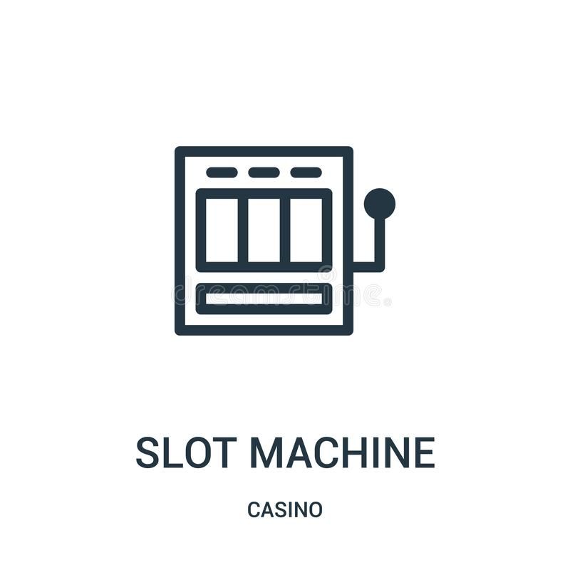 slot machine icon vector from casino collection. Thin line slot machine outline icon vector illustration royalty free illustration