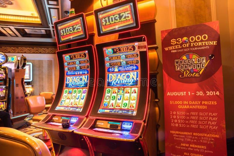 Slot machine Las Vegas de Digitas fotografia de stock