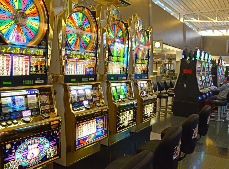 Slot machine a Las Vegas, Nevada immagine stock