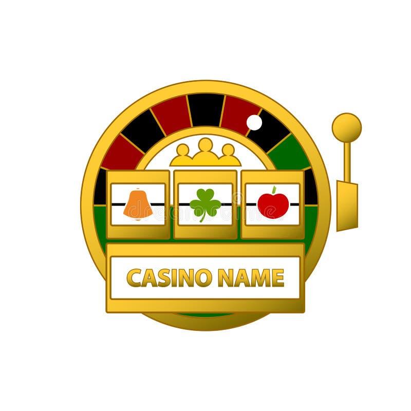 Slot Machine Logo. Slot machine and roulette logo vector illustration isolated on white background stock illustration