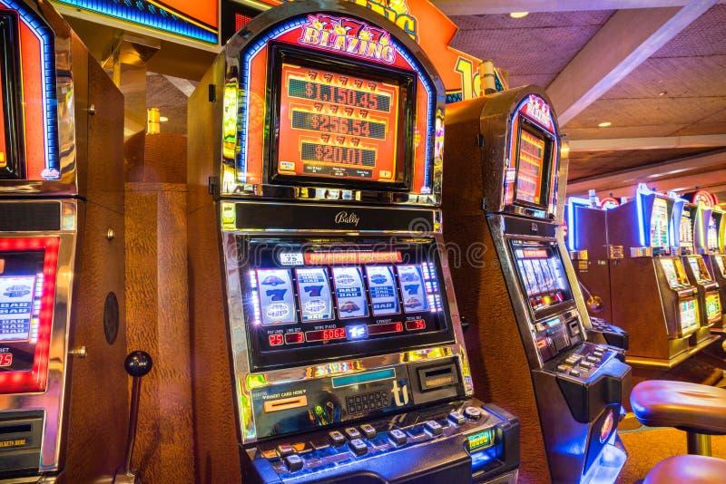 Slot machine meccanici Las Vegas Nevada di stile classico fotografie stock libere da diritti