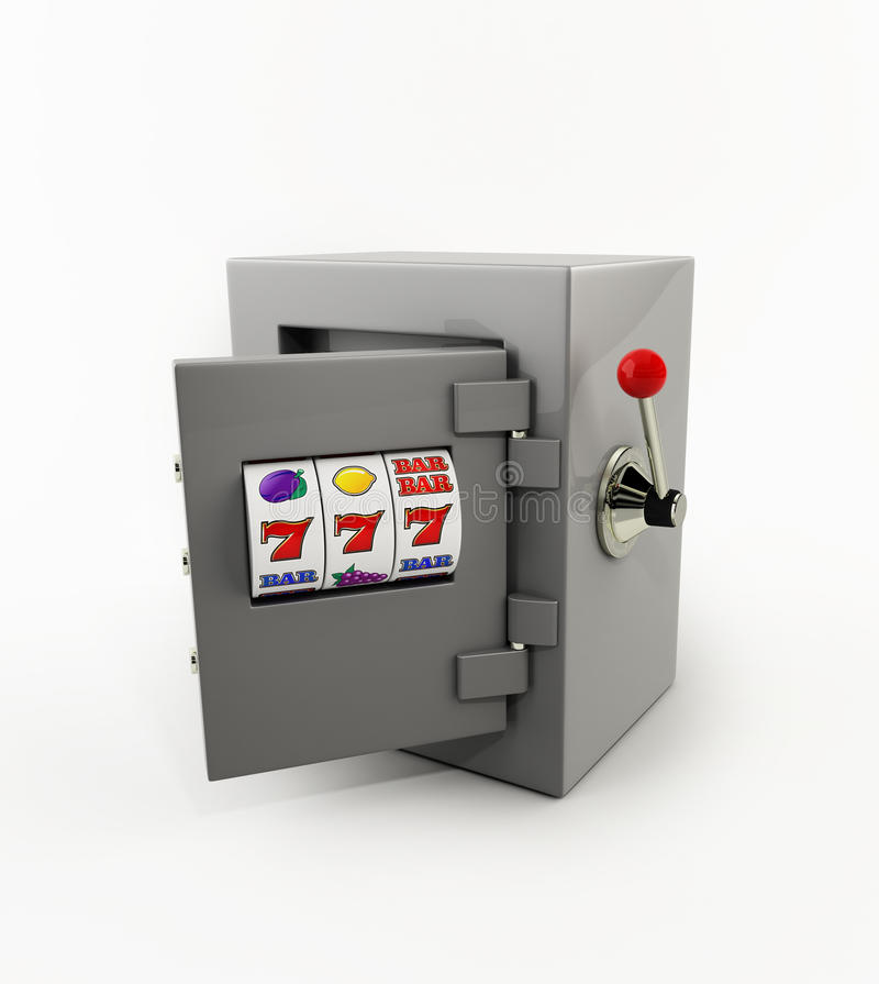 Free Slot Machine Openning Door Of The Safe Royalty Free Stock Image - 10146336