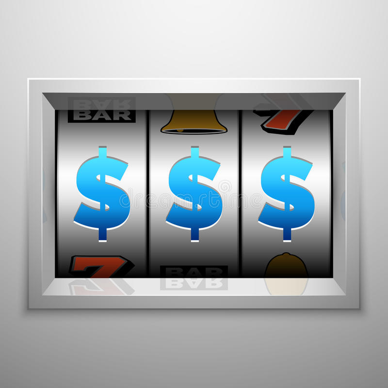 Slot machine ou um placar armado do bandido Casino e conceito de jogo do vetor ilustração do vetor