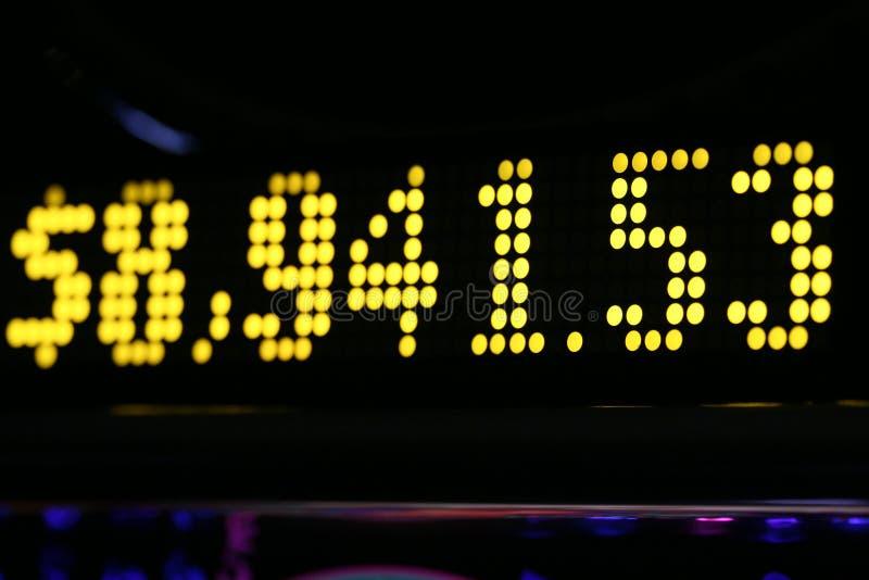 Slot machine progressive. Progressive slot display at $ 8,941.53 stock photos