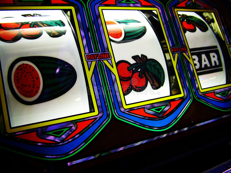 Slot machine reels royalty free stock photography