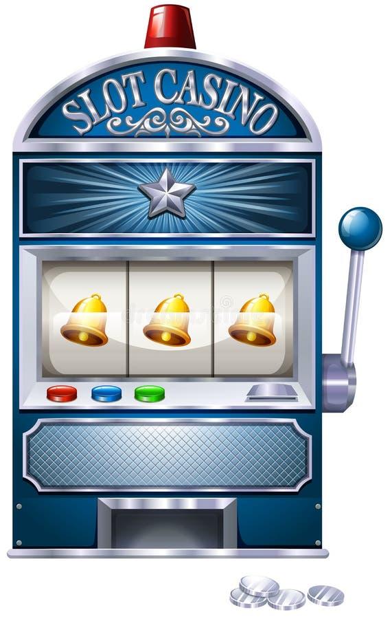 Slot machine. Vintage design of slot machine royalty free illustration