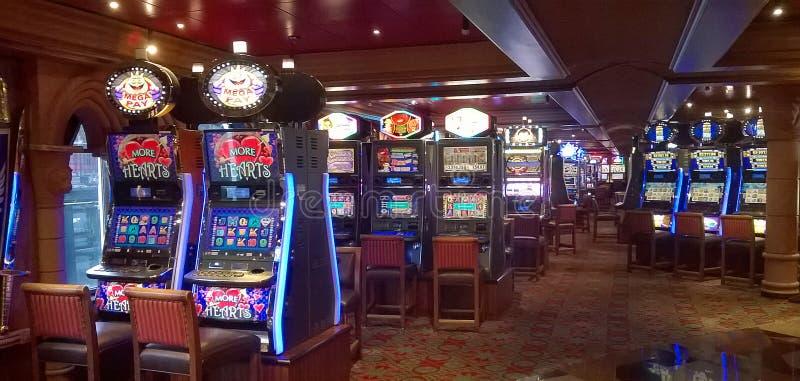 Slot machines in casino stock photography