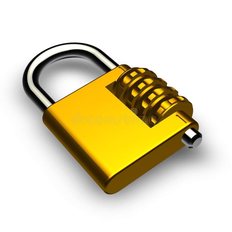 Slot met wachtwoord royalty-vrije illustratie