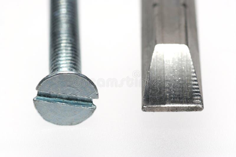 sloted отвертка винта бита стоковая фотография