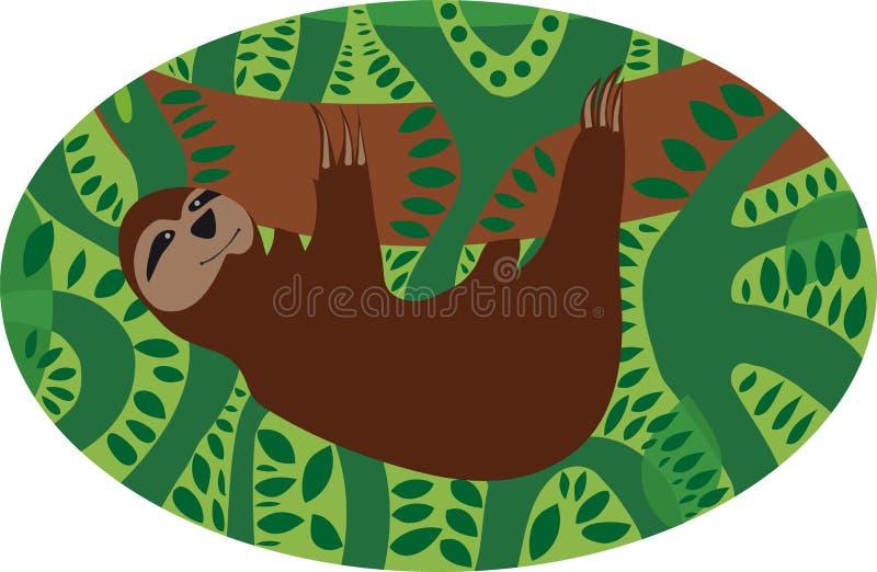 sloth ilustração do vetor