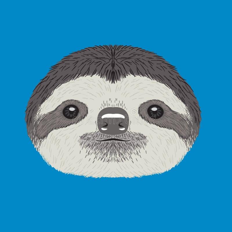 sloth ilustração stock