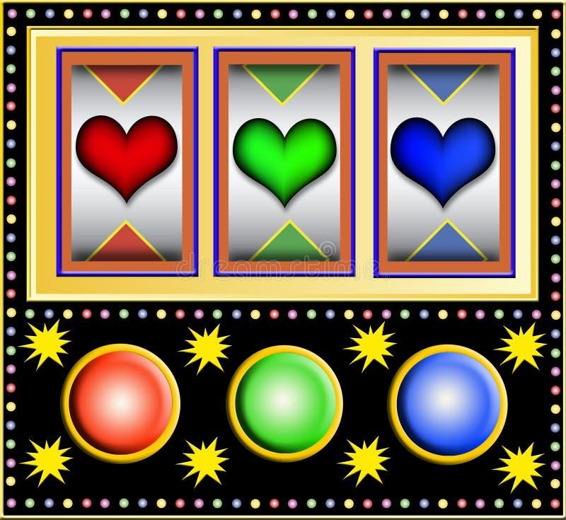 Slotmachine con i cuori royalty illustrazione gratis