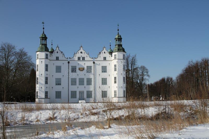 Slott av Ahrensburg, Tyskland, Schleswig-Holstein arkivbild