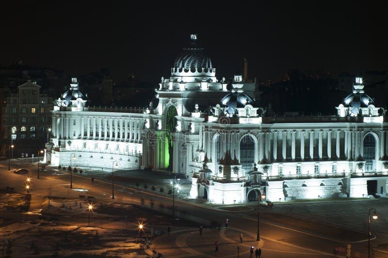 Slott av bönder på natten, Kazan arkivbild