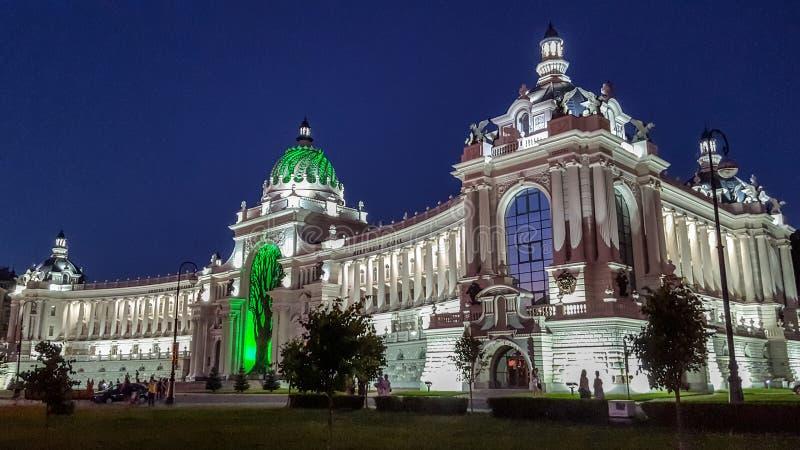 Slott av b?nder i Kazan - byggnad av departementet av jordbruk och mat, republik av Tatarstan, Ryssland royaltyfria foton