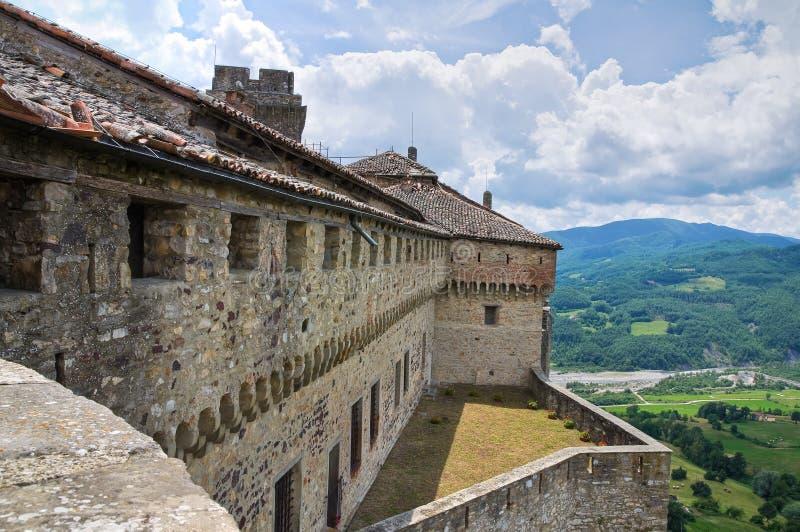 Slott av Bardi. Emilia-Romagna. Italien. arkivbilder