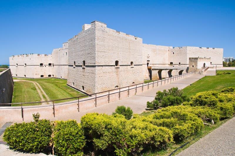 Slott av Barletta Puglia italy arkivbilder