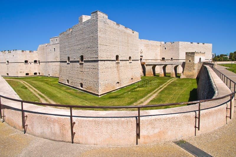 Slott av Barletta Puglia italy arkivfoto