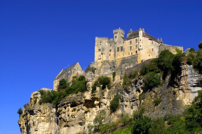 Slott av Beynac royaltyfria bilder