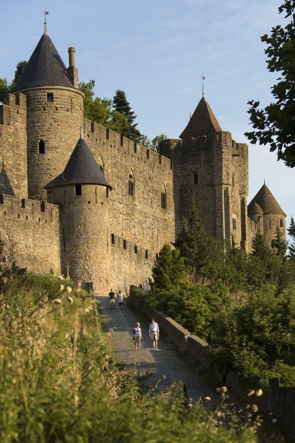 Slott av Carcassonne - Frankrike royaltyfri bild