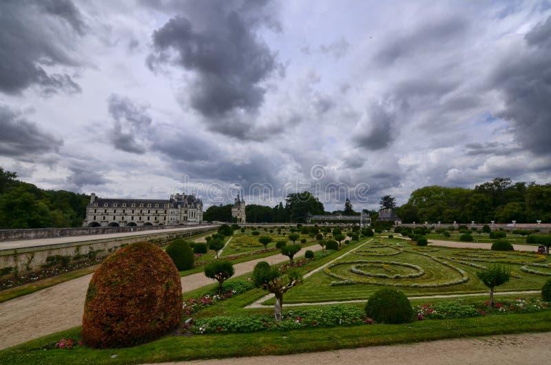 Slott av Chenonceau, Loire region, Frankrike Juni 27, 2017 kort arkivbild