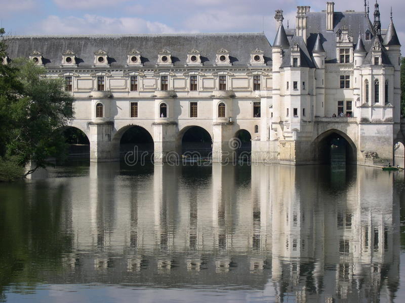 Slott av Chenonceaux royaltyfria foton