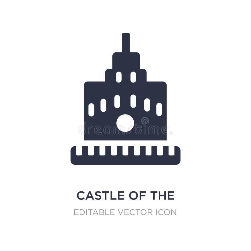 slott av den heliga ängeln i den rome symbolen på vit bakgrund Enkel beståndsdelillustration från monumentbegrepp royaltyfri illustrationer