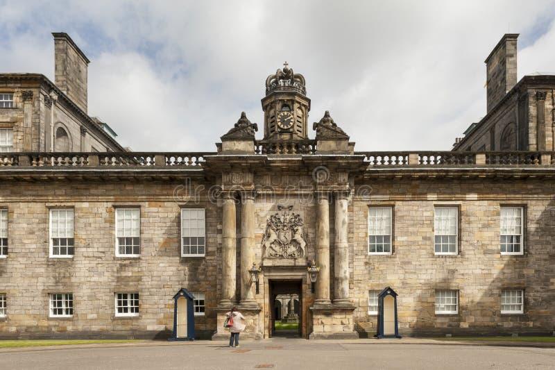 Slott av den Holyroodhouse- Edinburg fotografering för bildbyråer