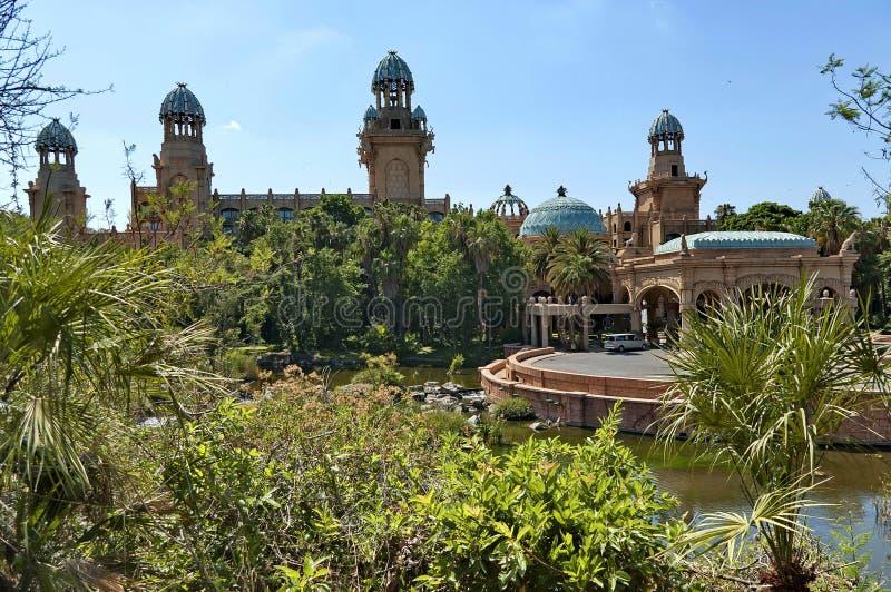 Slott av det borttappade stadshotellet i Sun City royaltyfri bild