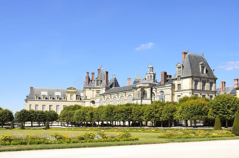 Slott av Fontainebleau royaltyfri bild