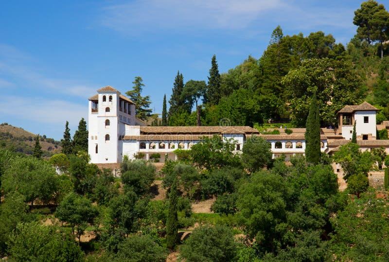 Slott av Generalife, Granada, Spanien royaltyfri bild