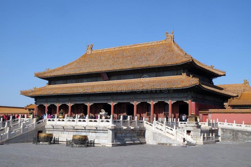 Slott av himla- renhet Qianqinggong i Forbidden City, Peking arkivfoton