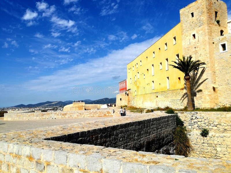 Slott av Ibiza fotografering för bildbyråer