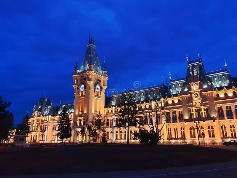 Slott av kultur från Iasi Rumänien arkivfoton