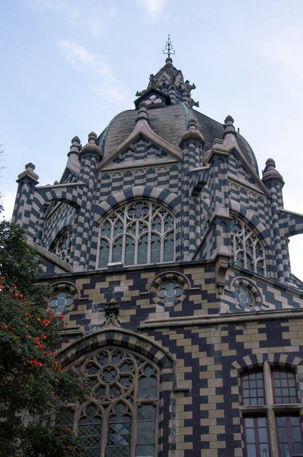 Slott av kultur i medellin, Colombia royaltyfri foto