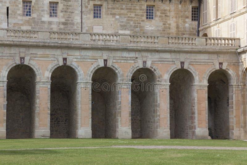 Slott av La Roche-Guyon arkivfoto