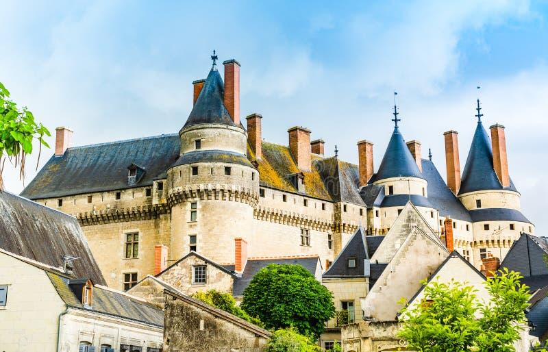 Slott av Langeais i det Loire Valley området i Frankrike royaltyfria foton