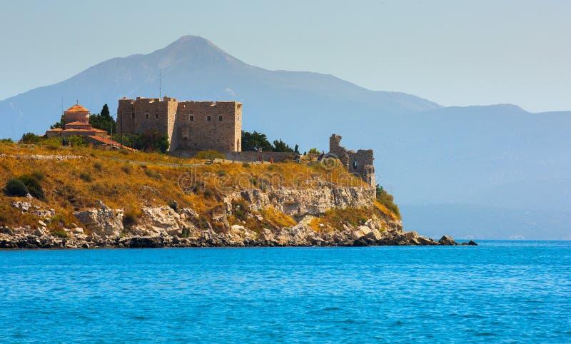 Slott av Lykourgos Logothetis i den Samos ön royaltyfri fotografi