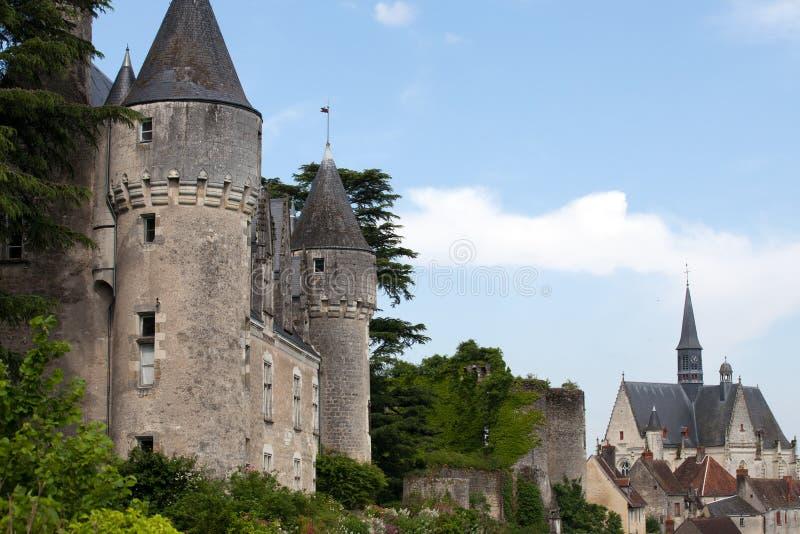 Slott av Montresor i Loiret Valley arkivfoto