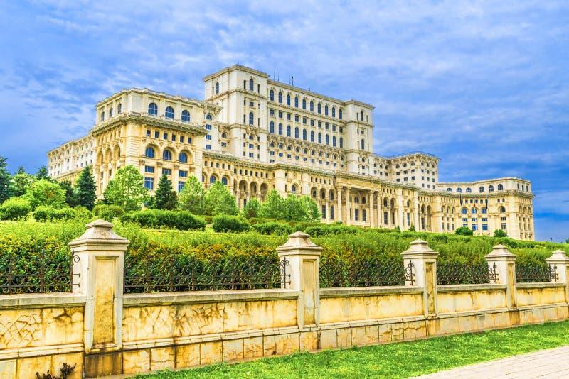 Slott av parlamentet, Bucharest arkivbilder